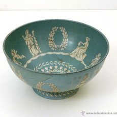 Antigüedades: ANTIGUO BOL METÁLICO PROFUSAMENTE DECORADO CON FIGURAS GRIEGAS. BARET WARE.. Lote 51129378