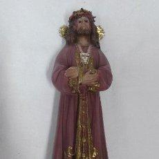 Antigüedades: ANTIGUA FIGURA CRISTO DE MEDINACELI - CON SELLO DE OLOT . Lote 51106587