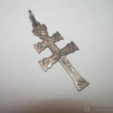 Antigüedades: ANTIGUA Y PEQUEÑA CRUZ DE PLATA DE CARAVACA....MUY RARA.. Lote 55098791
