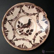 Antigüedades: C059 PLAT /PLATO DE CERAMICA CATALANA DE LA SERIE DE LA ARRACADA, FINALES DEL S. XVIII. EN MANGANESO. Lote 51140985