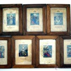 Antigüedades: SIETE ESTACIONES FRANCESAS DE UN VIACRUCIS - S. XIX. Lote 51141754