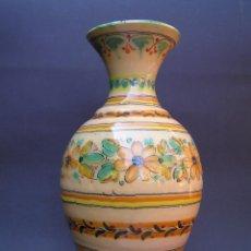 Antigüedades: JARRÓN ANTIGUO.. TERRACOTA ESMALTADA Y DECORADA A MANO. PUENTE DEL ARZOBISPO.. Lote 51143604