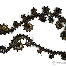 Antigüedades: LOTE DE PASAMANERÍA DE CRISTAL AZABACHE PARA RESTAURACIÓN-RECONSTRUCCIÓN TRAJE TRADICIONAL - S. XIX . Lote 51154079