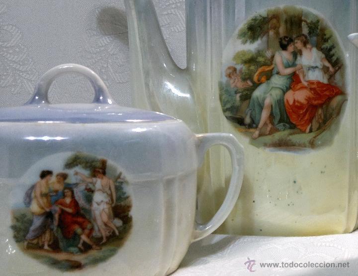 Antigüedades: ANTIGUO Y COMPLETO JUEGO DE CAFÉ, DOCE SERVICIOS, EN PORCELANA. - Foto 21 - 51162324