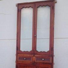 Antigüedades: ANTIGUA ALACENA EN MADERA DE MOBILA. Lote 51164313