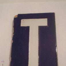 Antigüedades: ANTIGUA LOZA LETRA T.CERAMICA SANTA ANA.RODRIGUEZ DIAZ.S.L.TRIANA.SEVILLA.AÑOS 40.. Lote 51164344