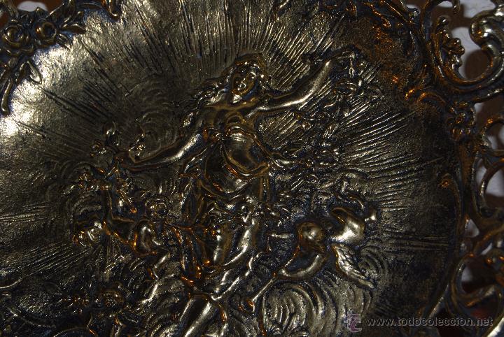 Antigüedades: CENTRO DE MESA DE BRONCE - NINFA - DIOSA - ÁNGELES - MEDIADOS SIGLO XX - Foto 10 - 51165712