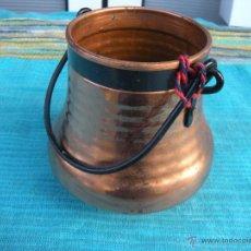 Antigüedades: PEQUEÑO CUBO DE COBRE.. Lote 51166613