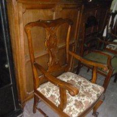 Antigüedades: DOS SILLONES DE NOGAL. Lote 51170600