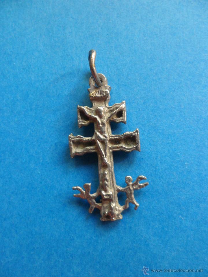 CRUZ DE CARAVACA - METAL (Antigüedades - Religiosas - Crucifijos Antiguos)
