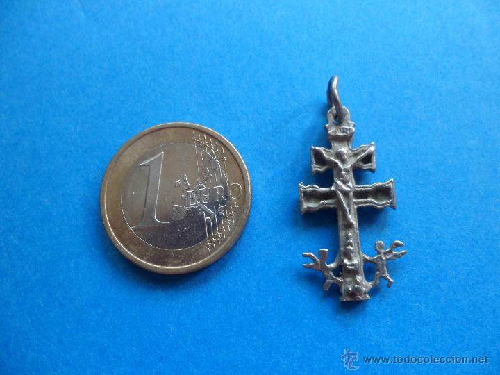 Antigüedades: Cruz de Caravaca - Metal - Foto 2 - 51179236