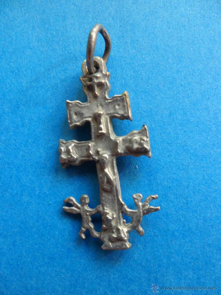 Antigüedades: Cruz de Caravaca - Metal - Foto 3 - 51179236