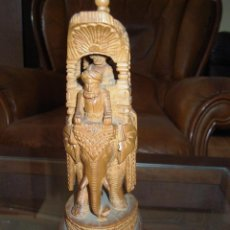 Antigüedades: PRECIOSA FIGURA INDIA EN MADERA ORIENTAL. Lote 51180231