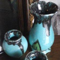 Antigüedades: TRES JARRONES VIDILER, VICENTE DIAZ LERMA. Lote 51187830
