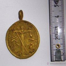 Antigüedades: EXCELENTE MEDALLÓN -SANTA CRUZ CARA- DORSO SANTA FAZ-ROMA, DE BRONCE. Lote 51192493