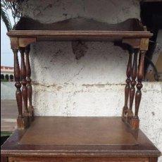 Antigüedades: ANTIGUO MUEBLE TOALLERO. Lote 51194128