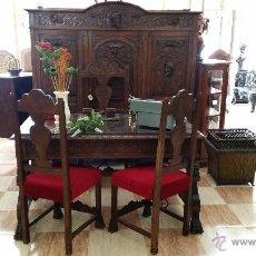 Antigüedades: DESPACHO TALLADO EN NOGAL. Lote 51196381