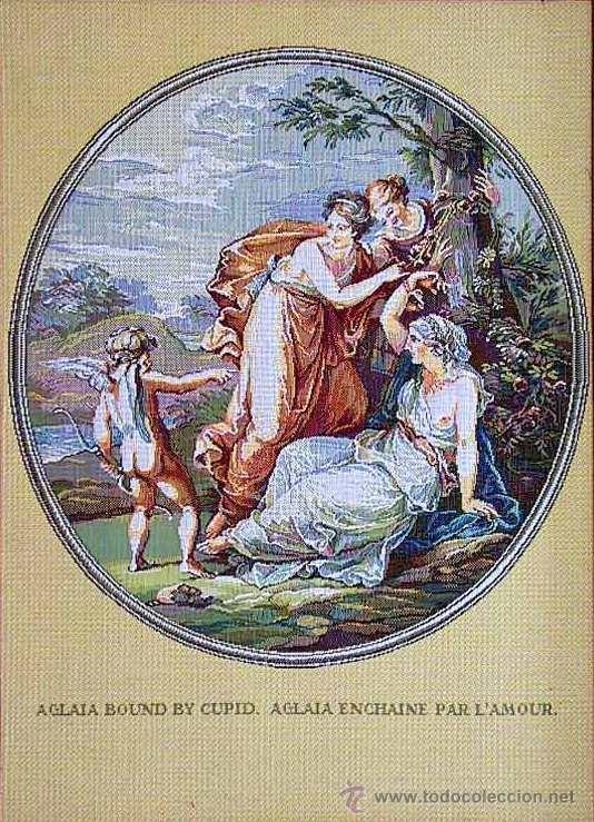 TAPIZ GOBELINO RUSO 'AMUR Y GRACIAS' (1) (Antigüedades - Hogar y Decoración - Tapices Antiguos)