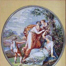 Antigüedades: TAPIZ GOBELINO RUSO 'AMUR Y GRACIAS' (1). Lote 189404043
