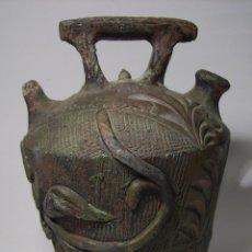Antigüedades: BOTIJO CERÁMICA NEGRA DE VERDÚ. Lote 51210469