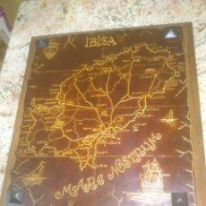 Antigüedades: MAPA IBIZA CUERO TRABAJADO. Lote 51212133