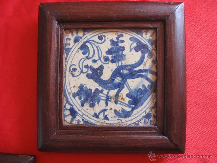 Antigüedades: Pareja de azulejos sevillanos Siglo XVIII - Foto 2 - 51222216