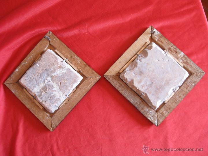 Antigüedades: Pareja de azulejos sevillanos Siglo XVIII - Foto 4 - 51222216