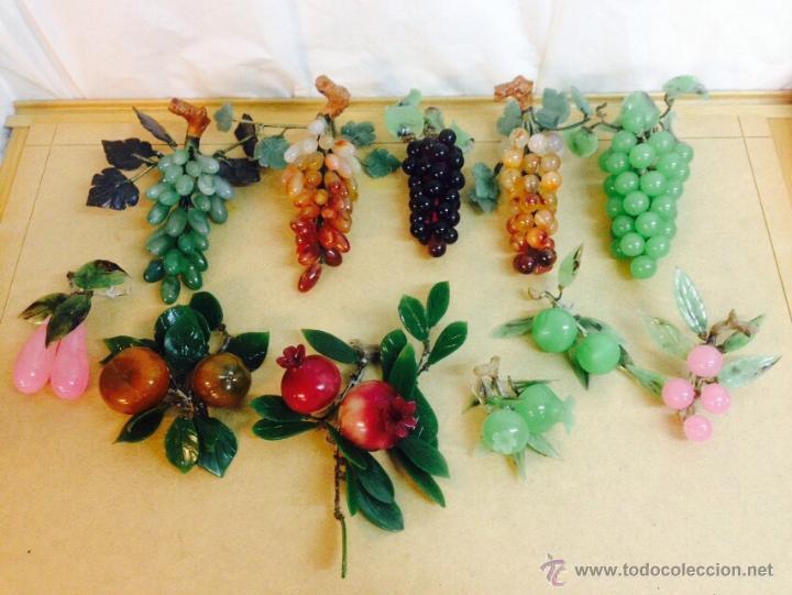 Gran lote con 11 racimos de frutas en cristal d comprar for Frutas de cristal