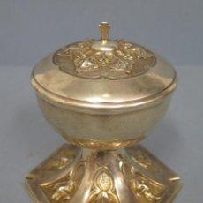 Antigüedades: IMPORTANTE Y PRECIOSO COPON DE PLATA MACIZA. BONITO TRABAJO ORNAMENTACION. SERRAHIMA. BARCELONA. Lote 51231473