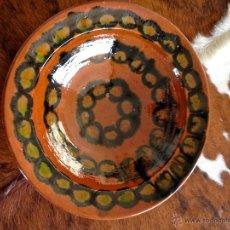 Antigüedades: CUENCO PLATO CERAMICA POPULAR MALLORCA. S.XX - FIRMANDO. Lote 51237806