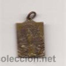 Antigüedades: MEDALLITA DE LA VIRGEN DEL PILAR / METAL / FIGURAS EN ANVERSO Y REVERSO. Lote 51243305