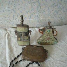 Antigüedades: CANTIMPLORAS Y BOLSO ARABES. Lote 51245816