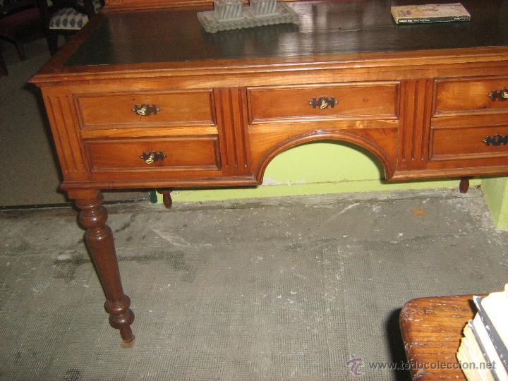 Antigüedades: Mesa de escritorio con altillo antigua - Foto 3 - 51248571