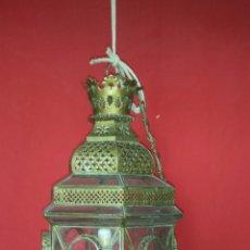 Antigüedades: LLAMATIVO FAROL PARA COLGAR.. Lote 51248661