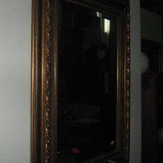 Antigüedades: ESPEJO VISELADO CON MOLDURA TALLADA. Lote 51251726