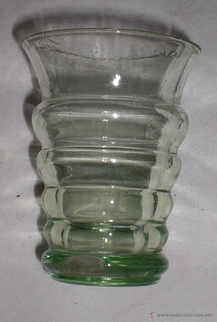 Antigüedades: Antiguo juego de 6 vasos cristal soplado - Foto 2 - 51255457