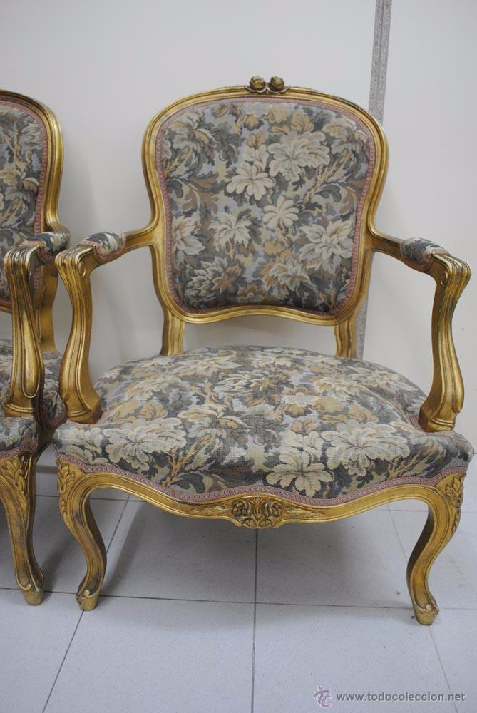 Sill n luis xv antiguo comprar sillones antiguos en for Sillones antiguos