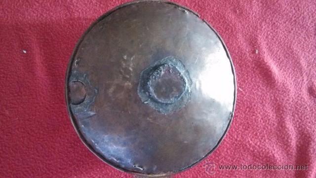 Antigüedades: ANTIGUO CURIOSO FAROL EN METAL Y LINO - Foto 5 - 51319716