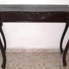 Antigüedades: CONSOLA DE CAOBA, SIGLO XIX. Lote 51323760