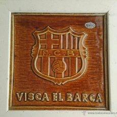 Antigüedades: CLUB DE FÚTBOL BARCELONA PLACA ESCUDO CERÁMICA PORCELANA VITRIFICADA. Lote 51327854