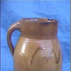 Antigüedades: CERAMICA POPULAR ANTIGUA CATALANA SXIX JARRA GERRA 17CM. Lote 51339240