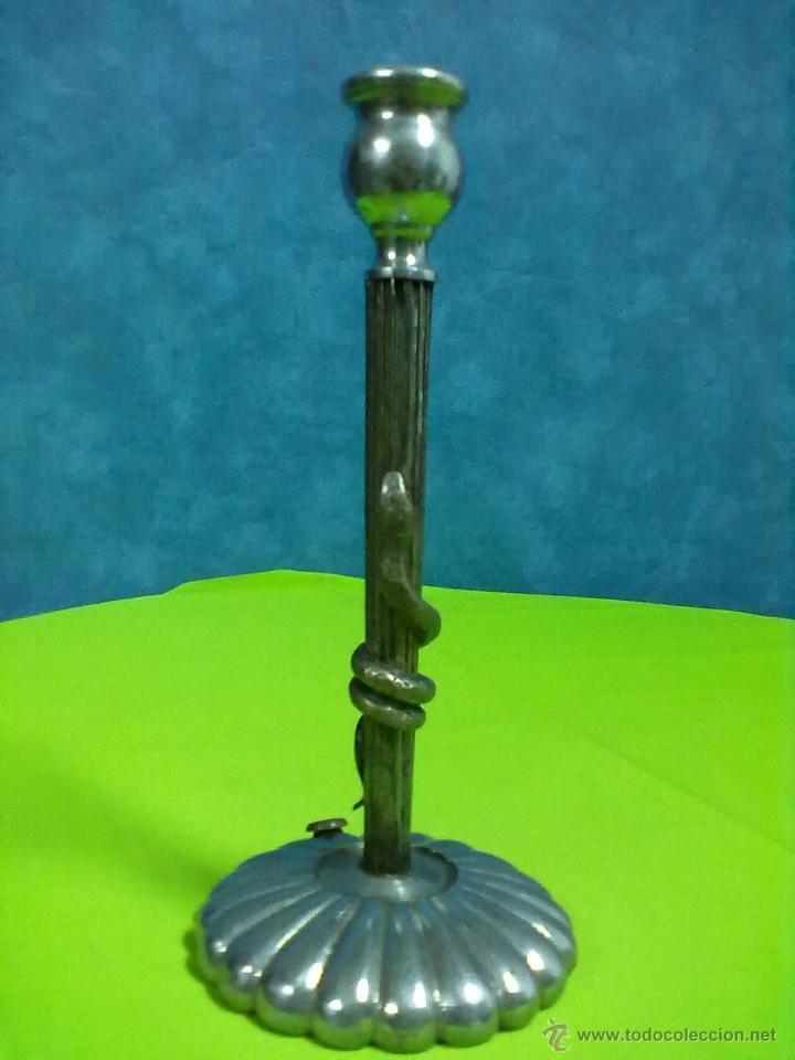 COLUMNA ACANALADA SERPIENTE LAMPARA PARA RESTAURAR (Antigüedades - Iluminación - Lámparas Antiguas)