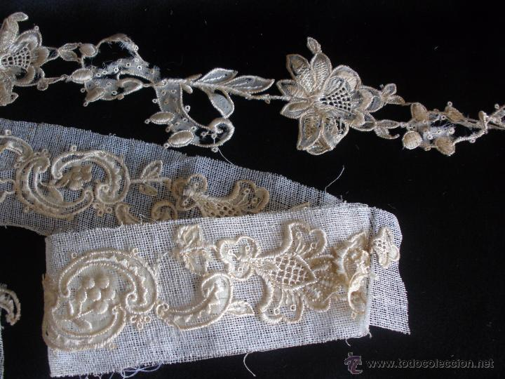 Antigüedades: tiras de encaje en hilo de seda - Foto 3 - 51340827
