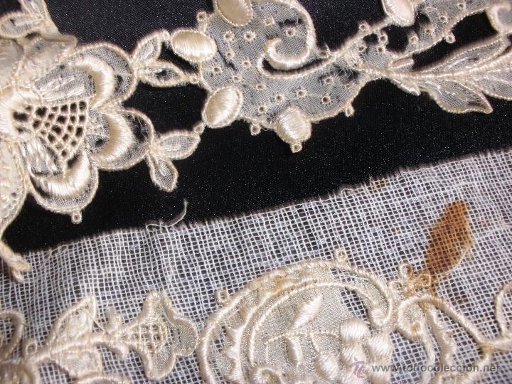 Antigüedades: tiras de encaje en hilo de seda - Foto 4 - 51340827