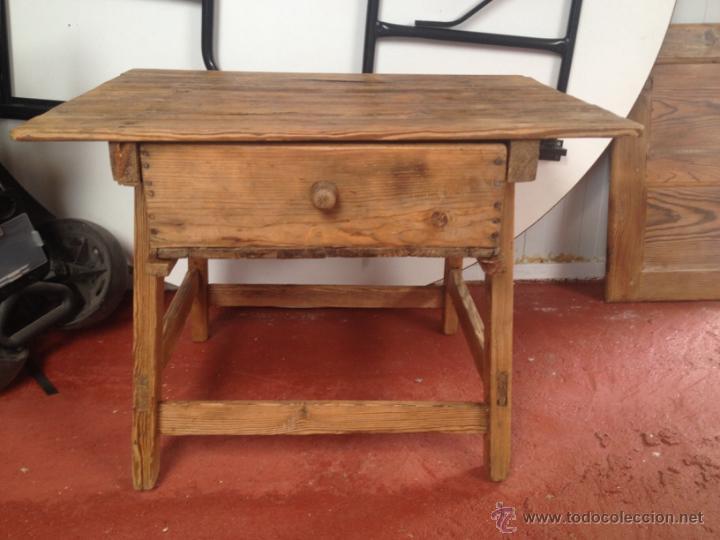 Antigua mesa tocinera restaurada xix comprar mesas - Mesas de recibidor antiguas ...