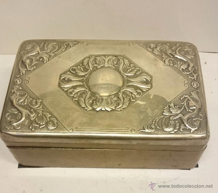 caja de madera con tapa de plata antigedades hogar y decoracin cajas antiguas