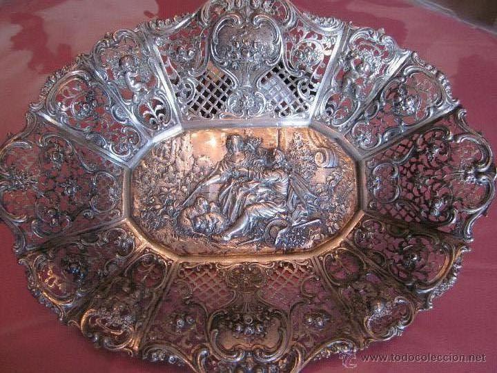 BANDEJA DE PLATA DE LEY 916 (Antigüedades - Platería - Plata de Ley Antigua)