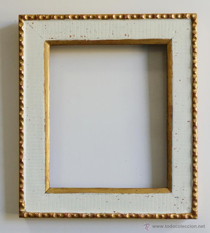 maravilloso marco de madera, en blanco y oro fi - Comprar Marcos ...