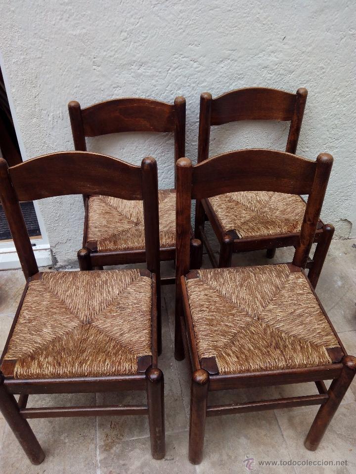 Cuatro sillas de mimbre antiguas comprar sillas antiguas - Sillas colgantes de mimbre ...