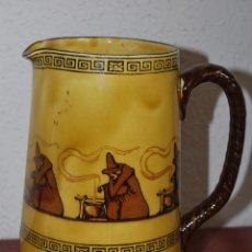 Antigüedades: JARRA DE PORCELANA DE ROYAL DOULTON - BRUJAS - BRUJA - JARRITA DE CAFÉ O TÉ - LECHERA - CIRCA 1900. Lote 51367870